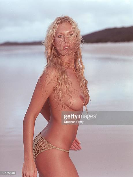Australian model face of Playstation 2 TV personality Annalise Braakensiek poses during a photoshoot held on January 24 in England