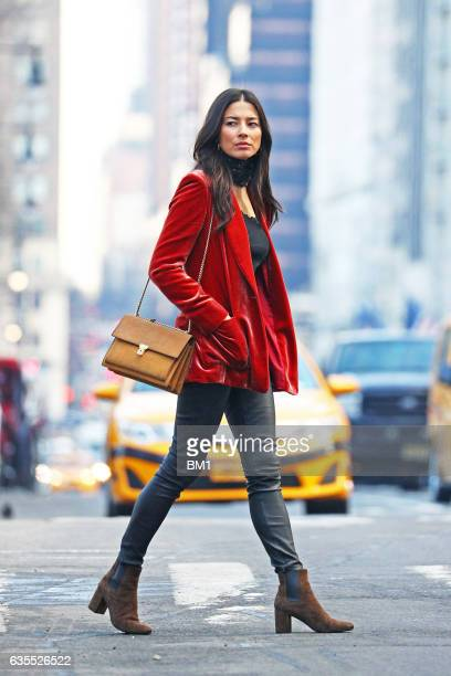 Australian model Jessica Gomes enjoys a walk in NYC on February 15 2017 in New York City