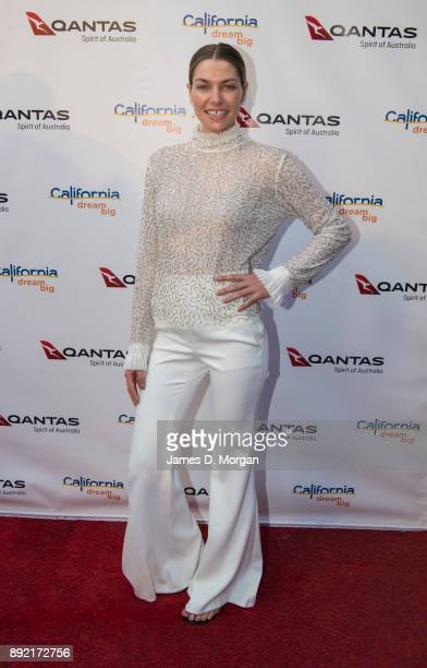 Australian model Jessica Hart attends a party hosted by Qantas to celebrate their first Dreamliner from Melbourne to Los Angeles on December 14 2017...