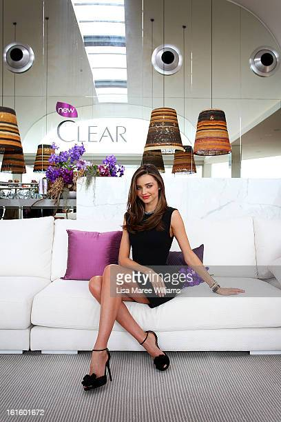 Australian model Miranda Kerr is named as the ambassador for Clear Scalp and Hair Beauty Therapy at The Pacific at Bondi Beach on February 13 2013 in...