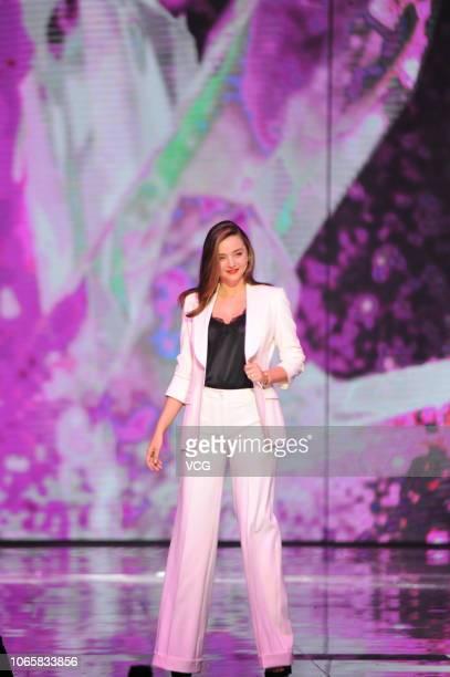Australian model Miranda Kerr performs onstage during 1111 Global Shopping Festival Gala on November 10 2018 in Shanghai China