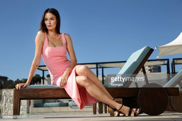 SYDNEY NSW Australian model Nicole Trunfio poses during a photo shoot at the InterContinental Hotel in Double Bay in Sydney New South Wales