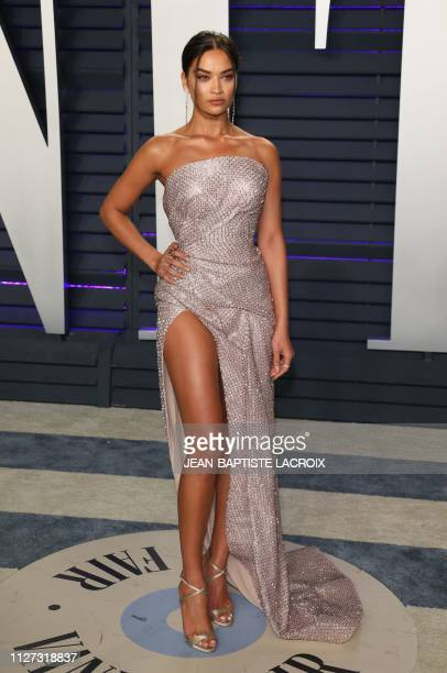 Australian model Shanina Shaik attends the 2019 Vanity Fair Oscar Party following the 91st Academy Awards at The Wallis Annenberg Center for the...