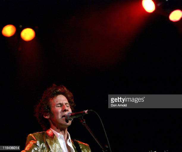 Australian musician Ben Lee performs on stage in concert in support of his latest album Ripe at The Metro Theatre on October 23 2007 in Sydney...