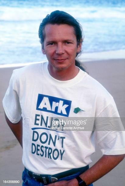 Australian musician Iva Davies supporting the Planet Ark environmental organisation in the 1990s in Sydney Australia