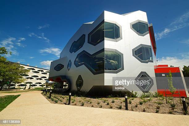 australian national university - sciences teaching building - australian capital territory stock pictures, royalty-free photos & images