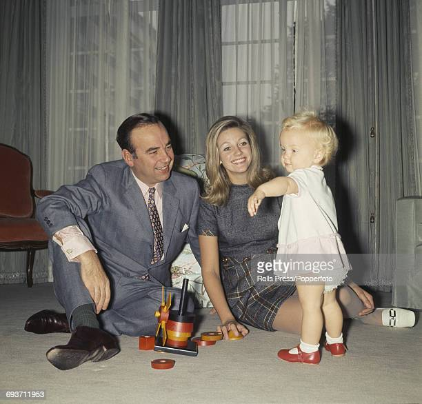 Australian newspaper publisher and businessman Rupert Murdoch pictured with his wife Anna Murdoch and daughter Elisabeth Murdoch at home in Sussex...