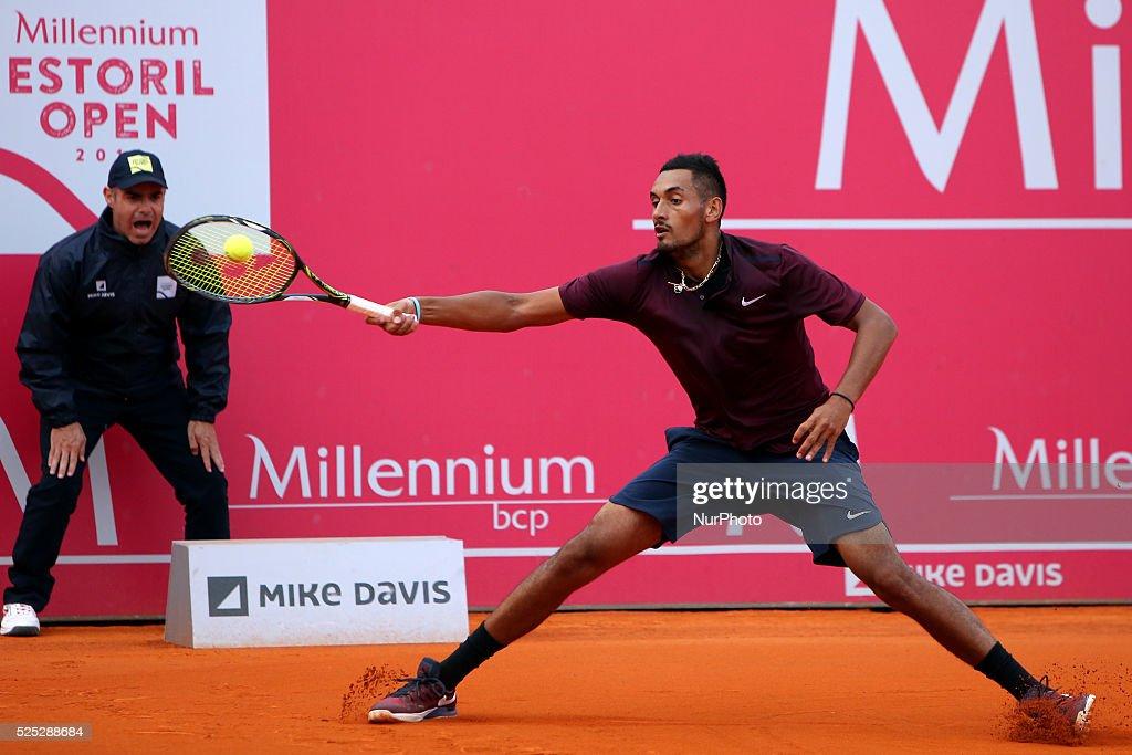Millennium Estoril Open ATP 250 tennis tournament - Inigo Cervantes (ESP) vs Nick Kyrgios (AUS) : News Photo