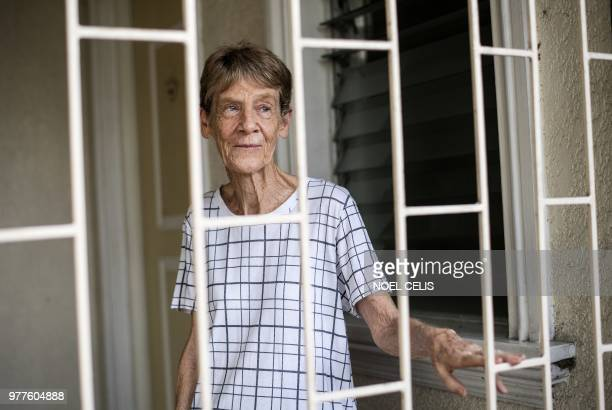 Australian nun Patricia Fox is seen inside her house in Manila on June 18 2018 An Australian nun ordered to leave the Philippines after angering...