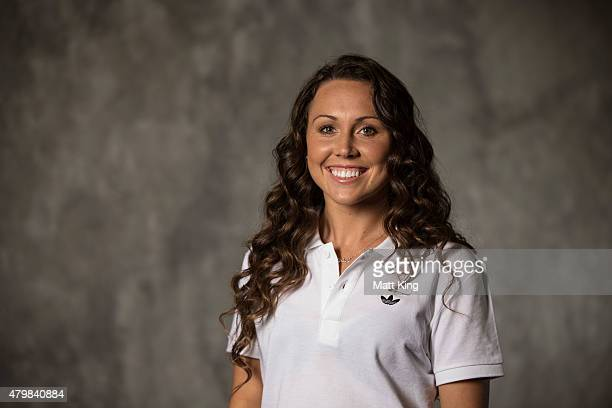 Australian Olympian Chloe Esposito poses during a portrait session at Australian Technology Park on July 8 2015 in Sydney Australia