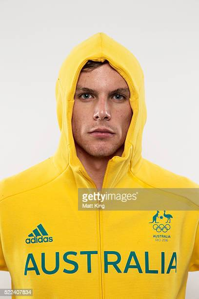 Australian Olympian Kyle Chalmers poses during the Australian Olympic Games Official Uniform Launch at the Park Hyatt Hotel on April 19 2016 in...