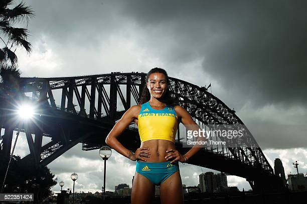 Australian Olympian, Morgan Mitchell poses during the Australian Olympic Games Official Uniform Launch at the Park Hyatt Hotel on April 19, 2016 in...