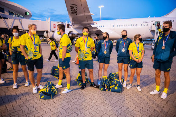 AUS: Australian Athletes Return to Australia From Tokyo 2020 Olympic Games