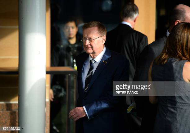 Australian Olympic Committee chief John Coates arrives to a vote for the president of the AOC at their annual general meeting in Sydney on May 6 2017...