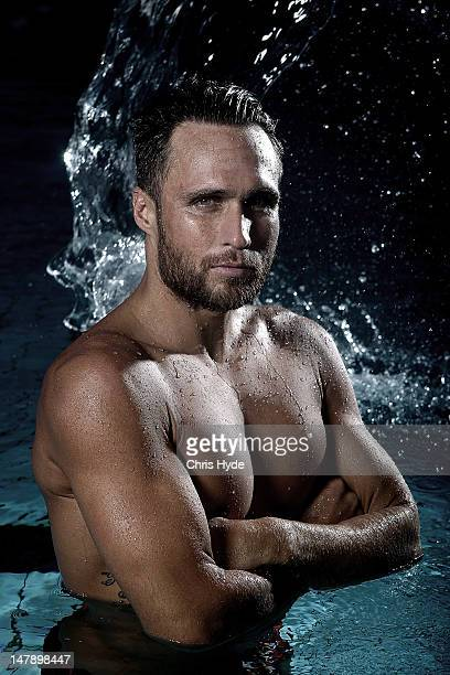 Australian Olympic Games swimmer and ironman Ky Hurst poses during a portrait session on July 6 2012 in Gold Coast Australia