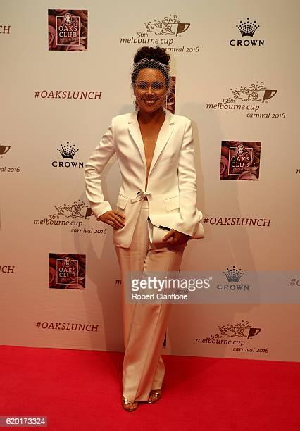 Australian Olympic goldmedalist Chloe Esposito arrives for the VRC Oaks Club Luncheon at Crown Palladium on November 2 2016 in Melbourne Australia
