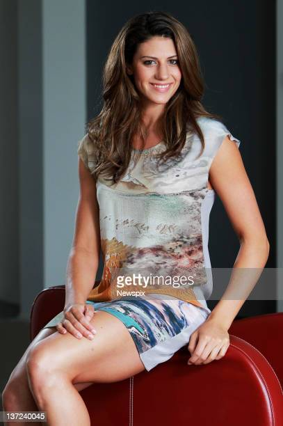 Australian Olympic swimmer Stephanie Rice poses during a photo shoot at the Mint Brisbane Skyline Apartments on January 13 2012 in Brisbane...