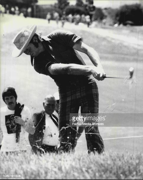 Australian Open Golf Championship of Australia at KensingtonPic Shows B Burgess in the rough on the 1st October 30 1976