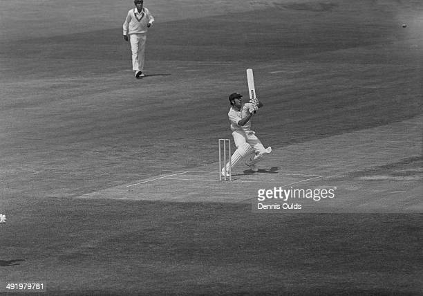 Australian opening batsman Alan Turner hooks a ball from Tony Opatha of Sri Lanka during a Cricket World Cup, Group B, match at the Oval, London,...