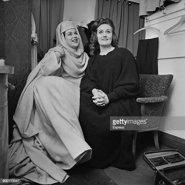 Australian opera singer Joan Sutherland and American opera singer Marilyn Horne backstage at Covent Garden London 27th November 1967