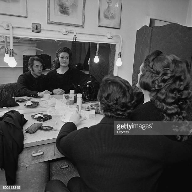 Australian opera singer Joan Sutherland and her husband Australian conductor and pianist Richard Bonynge backstage at Covent Garden London 27th...