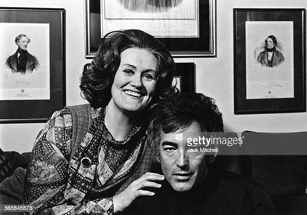 Australian operatic coloratura soprano Joan Sutherland with her husband conductor Richard Bonynge 1976 Photo by Jack Mitchell/Getty Images