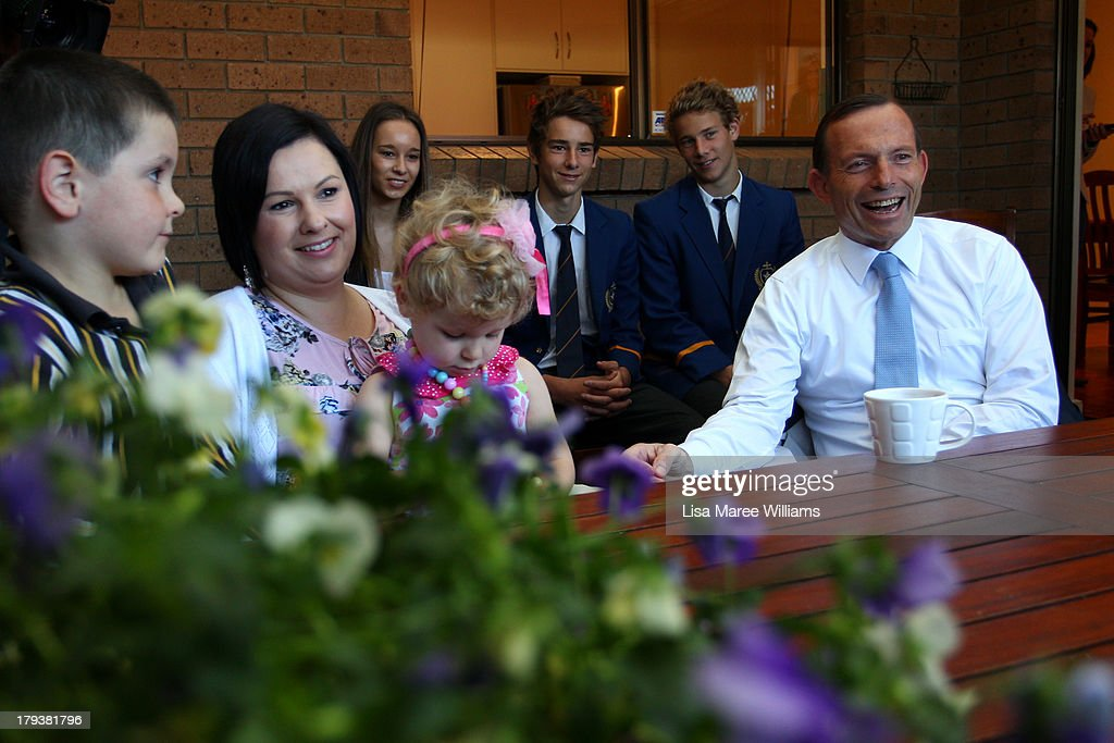 Tony Abbott Visits Adelaide As Marginal Seats Threatened : News Photo
