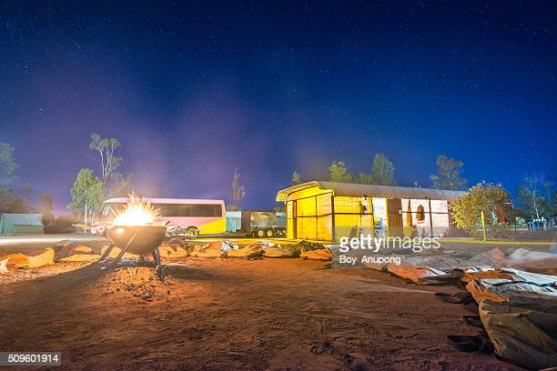 Australian outback camp in Northern Territory.