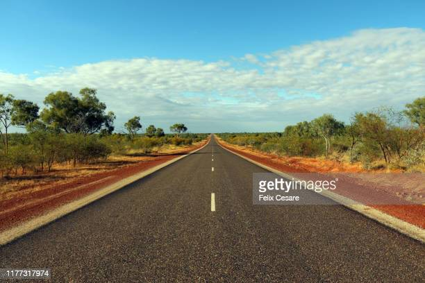 australian outback red roads - darwin australia stock pictures, royalty-free photos & images