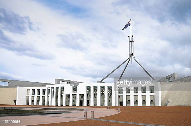australian parliament in canberra - parliament building stock pictures, royalty-free photos & images