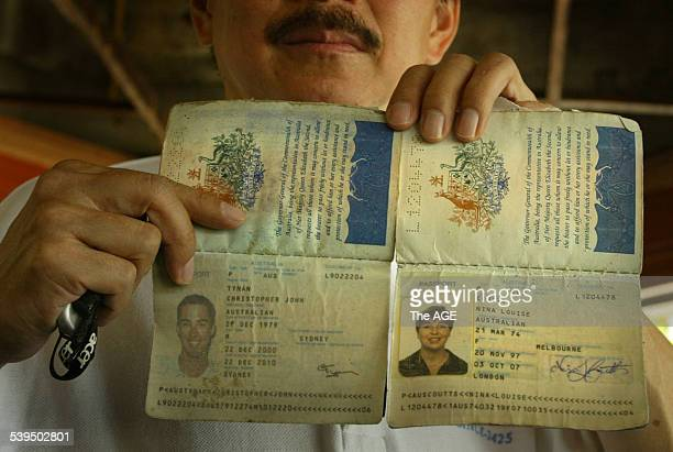 Australian Passports found on Phi Phi Island after last weeks Tsunami Taken 3rd January 2005 THE AGE NEWS Picture by PAUL HARRIS