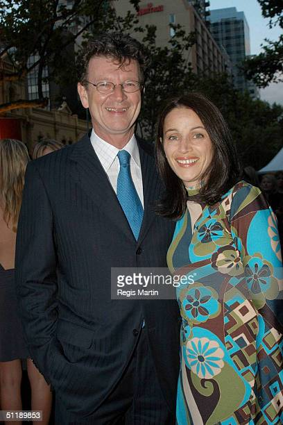 Australian personality Red Symons with his wife at the 45th AFI awards held at Her Majesty's Theatre in Melbourne Victoria Australia