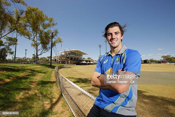 Australian player Pat Cummins poses for a photo during day 4 of the National Indigenous Cricket Championships on February 11 2016 in Alice Springs...