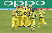 taunton england australian players celebrate wicket