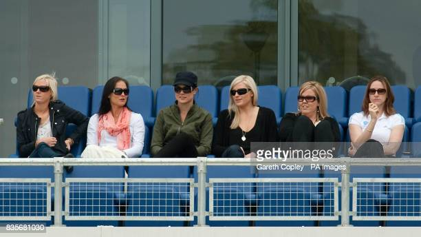 Australian players wives and girlfriends watch day two of the first npower Test match at Sophia Gardens Cardiff