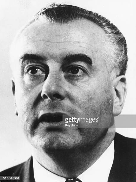 Australian politician Gough Whitlam new leader of the Labour Party at a press conference February 14th 1967