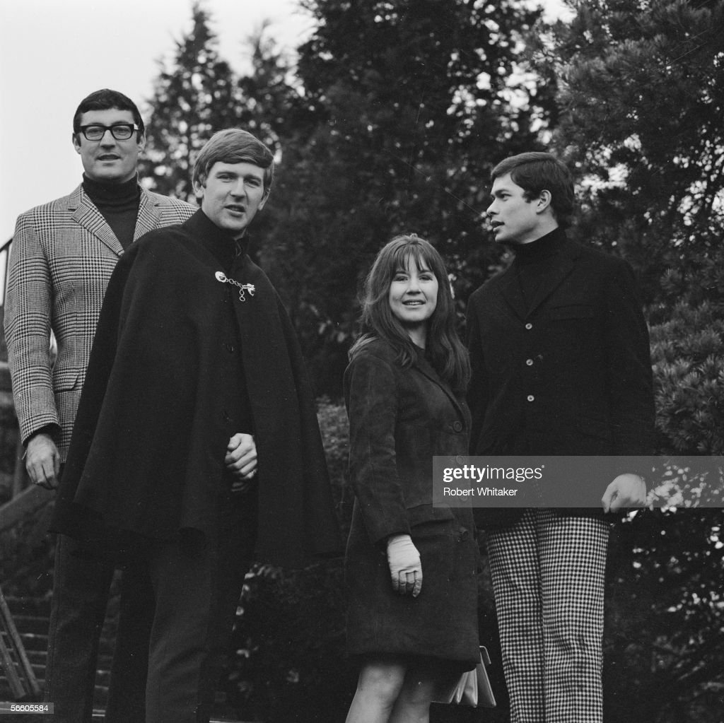 Australian pop folk group The Seekers; from left to right, Athol Guy, Bruce Woodley, Judy Durham and Keith Potger, January 1967.