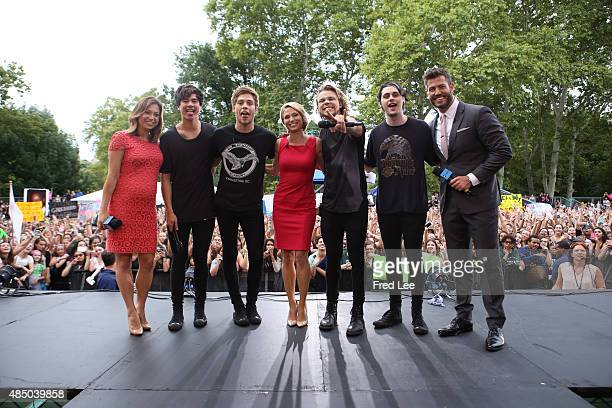 AMERICA Australian pop punk band 5 Seconds of Summer performs in Central Park as part of the GMA Summer Concert Series on GOOD MORNING AMERICA...