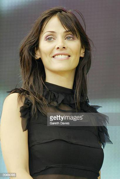 Australian pop singer and actress Natalie Imbruglia attends the 958 Capital FM Party in the Park held at Hyde Park in London on July 7 2002 The...