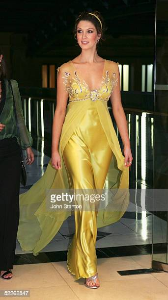 Australian pop singer Delta Goodrem arrives at the Australian Red Cross 90th Anniversary Gala at the Westin Hotel March 2 2005 in Sydney Australia...