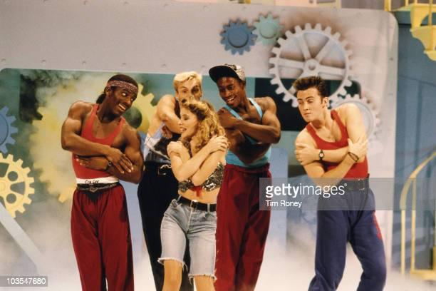 Australian pop star Kylie Minogue appears on TV's 'Going Live' 1989