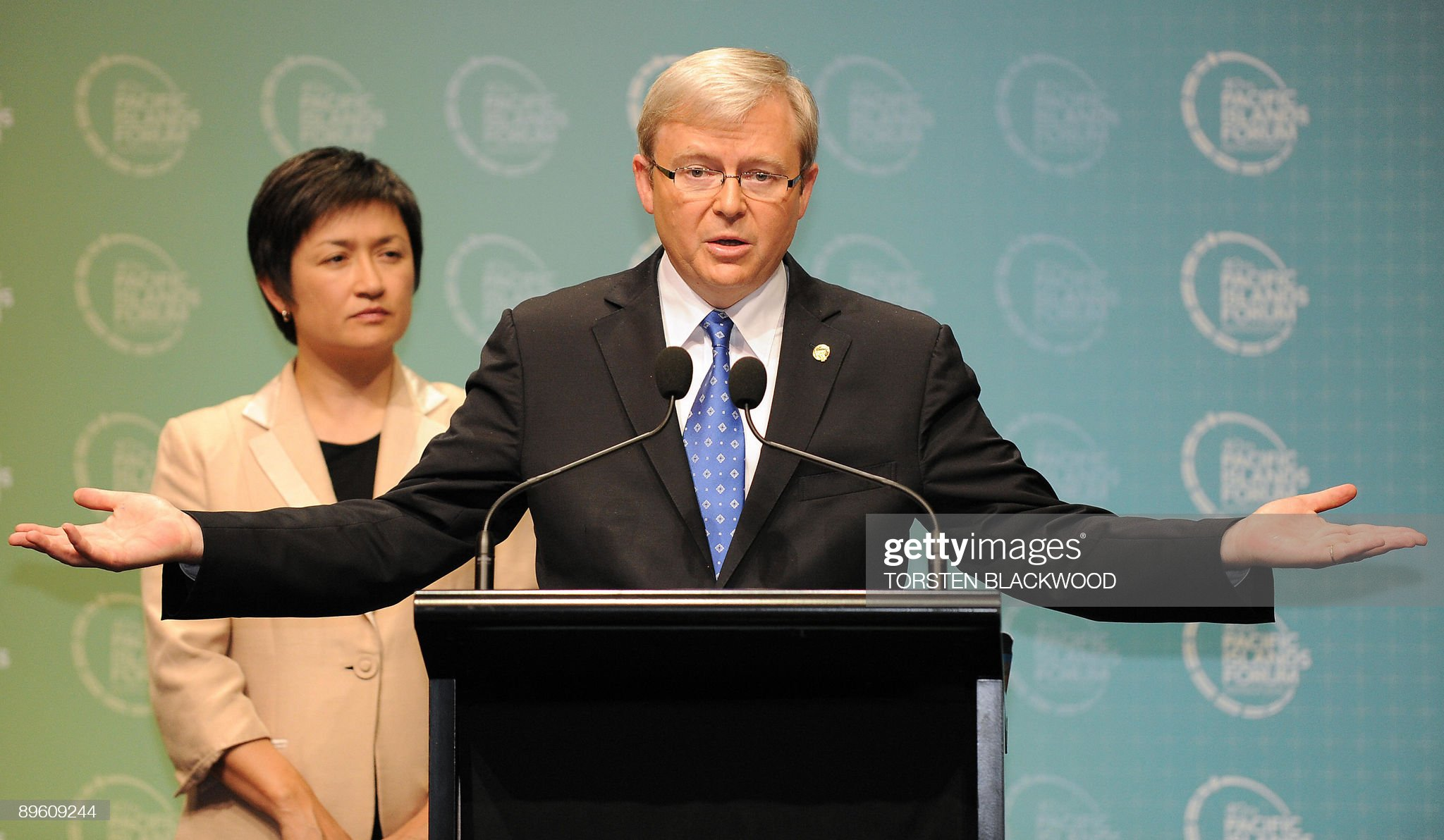 Australian Prime Minister and incoming P : News Photo