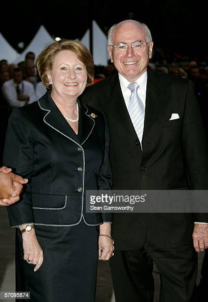 Australian Prime Minister John Howard and wife Janette arrive at the Opening Ceremony for the Melbourne 2006 Commonwealth Games at the Melbourne...