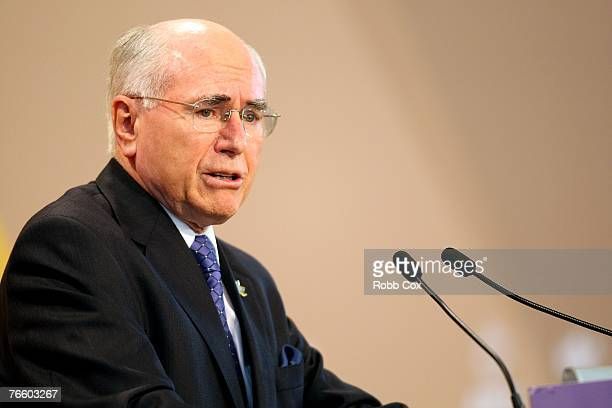 Australian Prime Minister John Howard speaks at his final media conference for the AsiaPacific Economic Cooperation forum on September 9 2007 in...