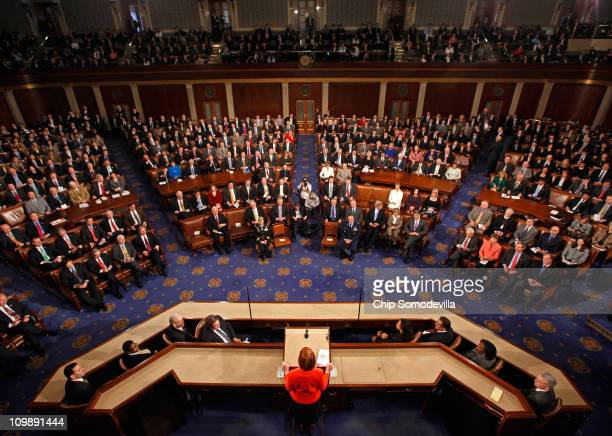 Australian Prime Minister Julia Gillard addresses a joint meeting of the U.S. Congress from the floor of the House of Representatives at the U.S....