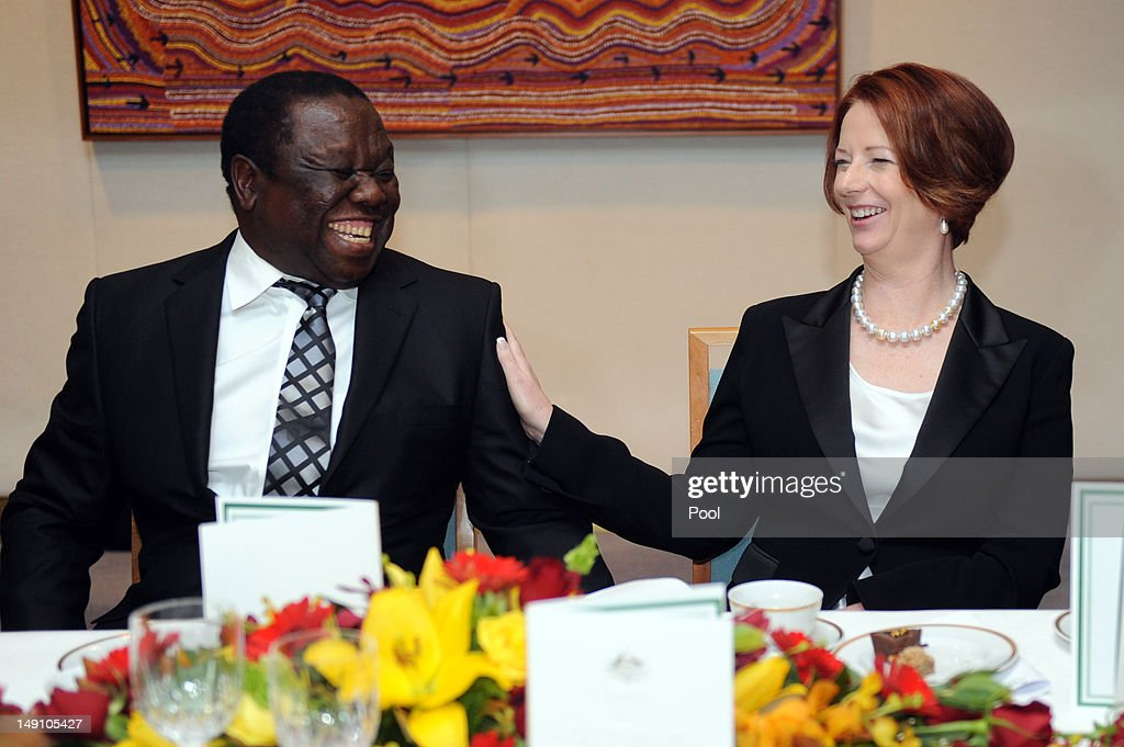 Australia PM Gillard Meets With Zimbabwe PM Tsvangirai At Parliament House