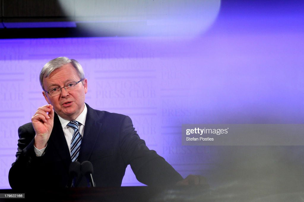 Kevin Rudd Continues Campaigning With Two Days Till Election