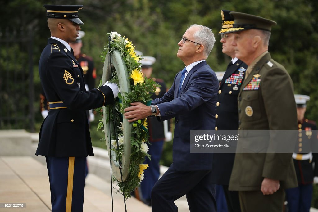 Australian PM Malcolm Turnbull Lays Wreath At Tomb Of The Unknown Soldier