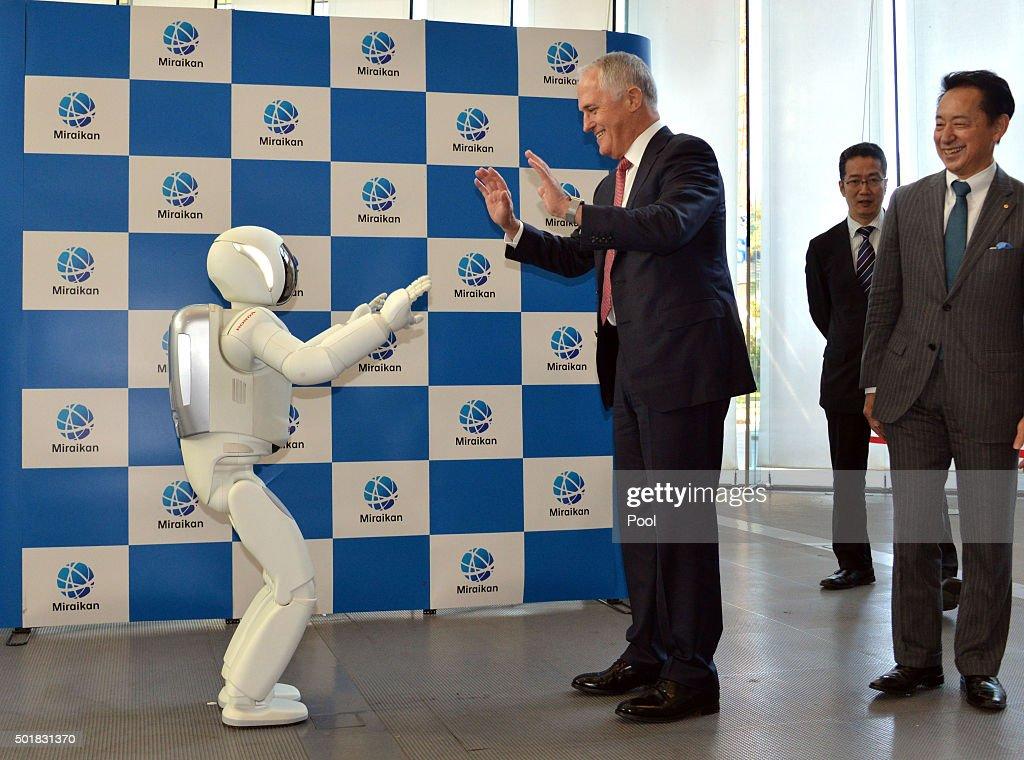 Australian Prime Minister Malcolm Turnbull Visits Japan : News Photo