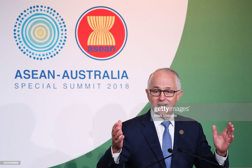 Australian Prime Minister Malcolm Turnbull speaks at a CEO Forum Lunch on March 17, 2018 in Sydney, Australia. The ASEAN-Australia Special Summit 2018 aims to further deepen economic cooperation, political dialogue and strengthen regional security. It is the first time Australia has hosted the summit with ASEAN leaders in Australia